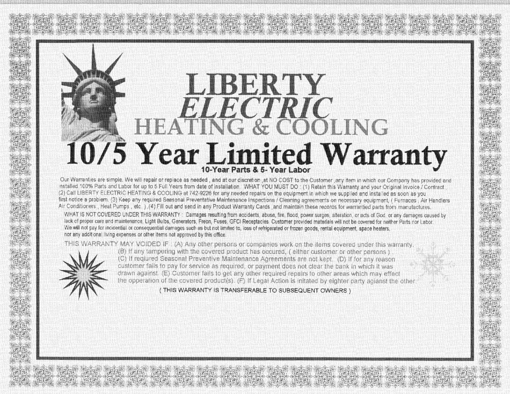 Liberty Electric Heating and Cooling Inc.